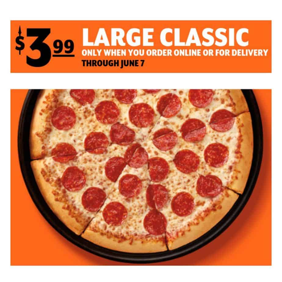 Little Caesars Pizza Deal | Large Classic Pizza Only .99