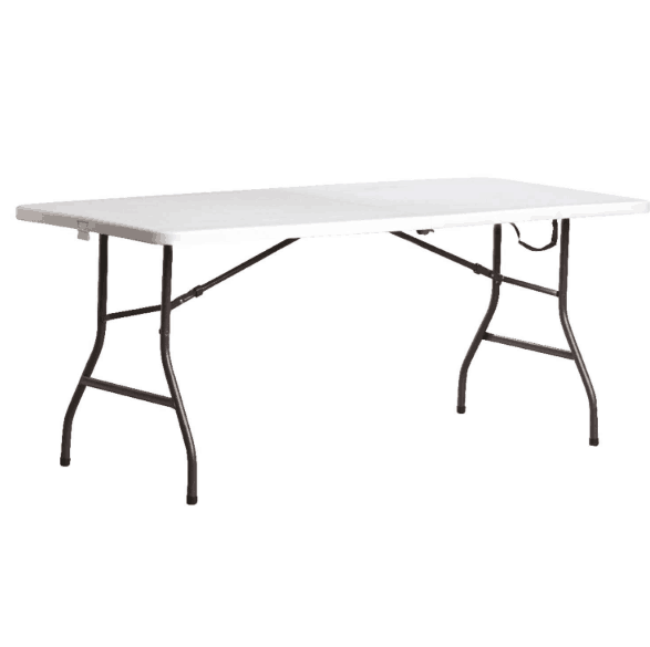 Ace Hardware: Living Accents 6 Foot Rectangular Fold-in-Half Table ONLY .99