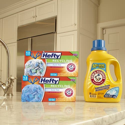 Hefty Trash Bags for the Recycling Bin - Blue, 13 Gallon, 60 Count Only .18