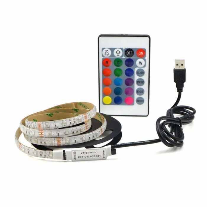 Angoo USB LED Strip Lights with Remote Control Now .99 (Was )