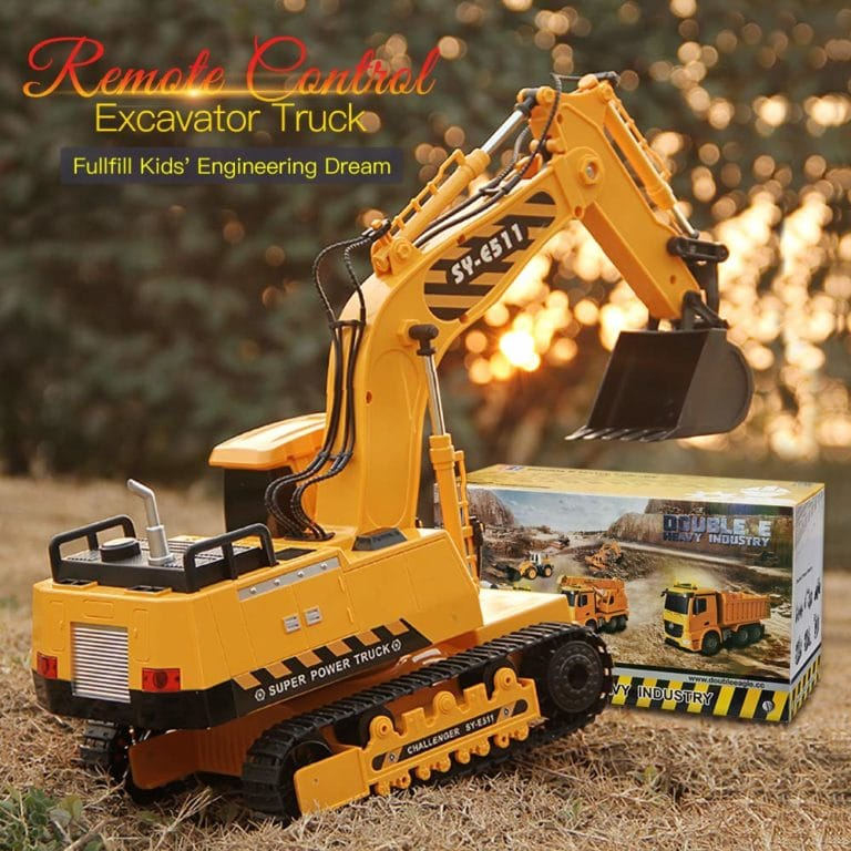 DOUBLE E RC Excavator Fully Functional Construction Toys Now .98 (Was .99)