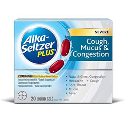 Alka-Seltzer Plus Severe Cough, Mucus and Congestion Liquid Gels, 20 Count Now .65 (Was .96)
