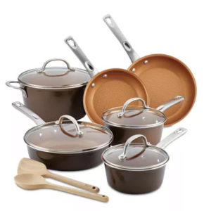 Ayesha 12-Pc. Porcelain Enamel Non-Stick Cookware Set Now .99 Shipped (Was 9)
