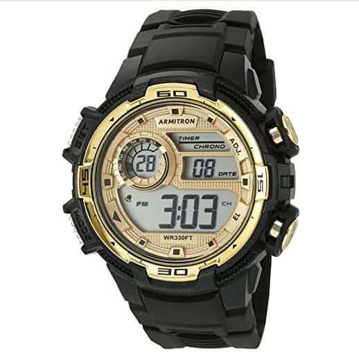 Armitron Sport Men's Digital Chronograph Black Resin Strap Watch .99