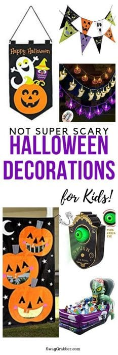 Not Super Scary Halloween Decorations for Kids