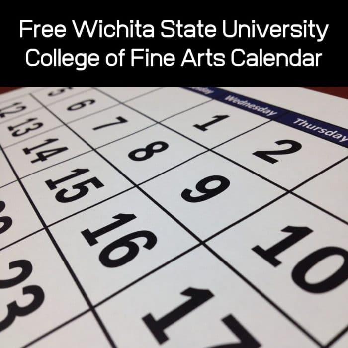 Free Wichita State University College of Fine Arts Calendar