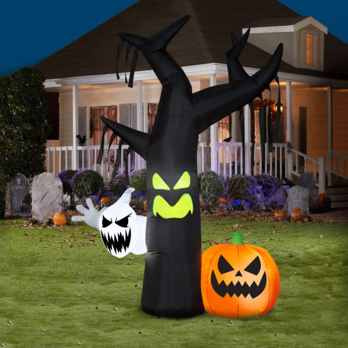 Halloween Airblown Inflatable Ghostly Tree Scene 7FT Tall Now .97 (Was )