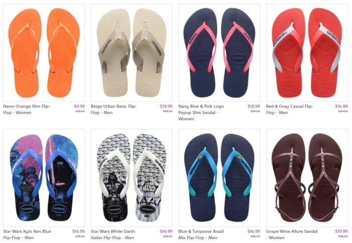 Deep Discounts on Havaianas Sandals at Zulily - Prices Start at .99