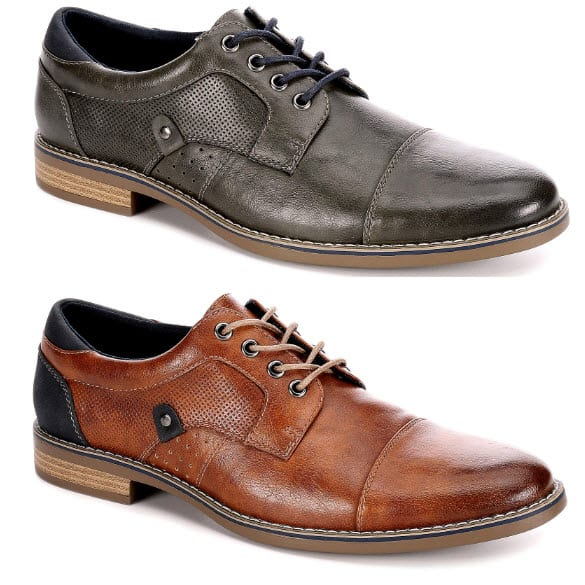 Restoration Mens Justin Lace Up Cap Toe Oxford Shoes Now .99 Shipped (Was )