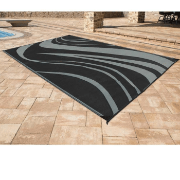 Camping World: Reversible Wave Mat, 8' x 11'--Black Only .60 (Was )