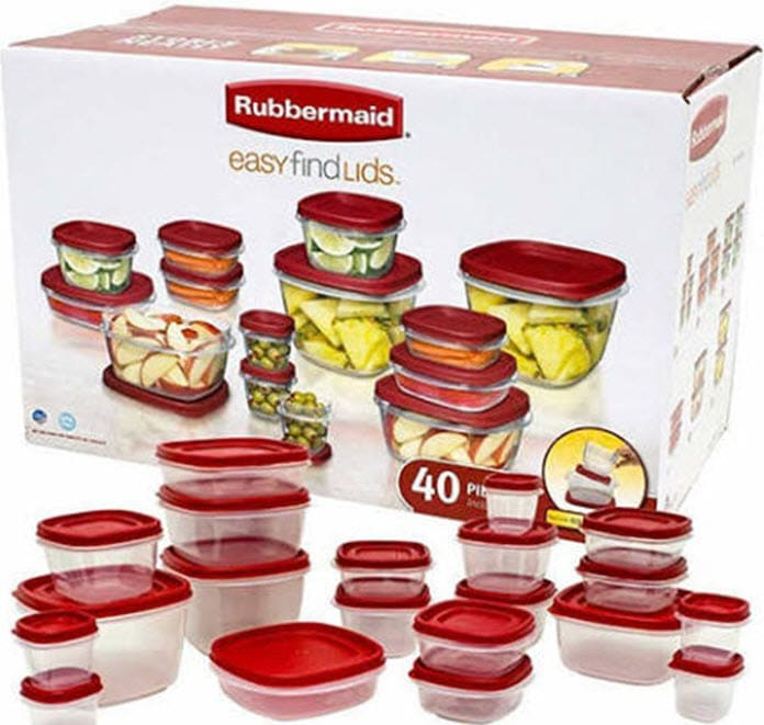Rubbermaid Easy Find Lids 40-Piece With Vents Food Storage Container Set Now .88 (Was )