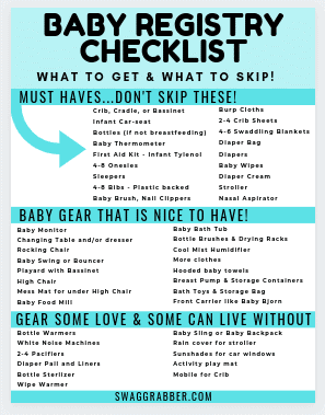 Ultimate List of New Baby Registry Ideas + Free Printable Checklist