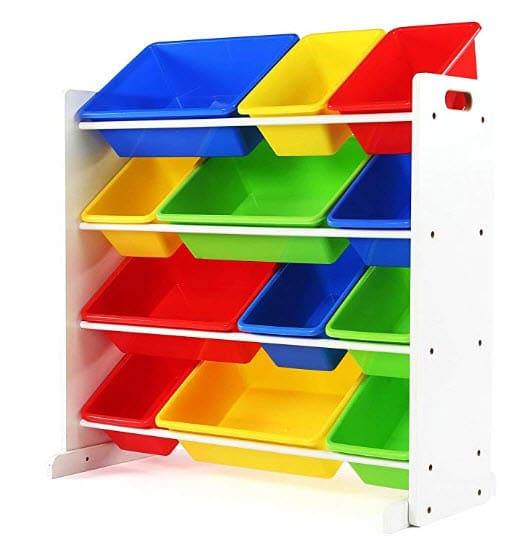 Tot Tutors Kids' Toy Storage Organizer with 12 Plastic Bins Only .99 (Was .99)