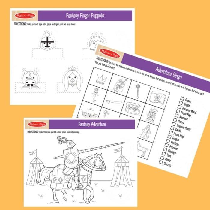 FREE Melissa & Doug Printable Coloring & Activity Sheets