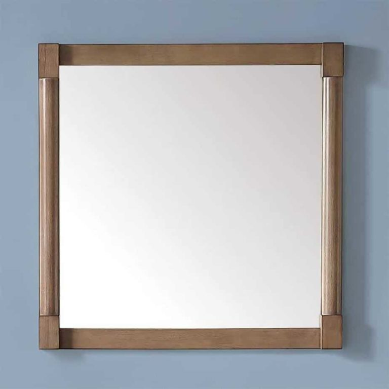 Home Depot: Martha Stewart 32 in. x 32 in. Framed Wall Mirror in Almond Toffee  (Was 2)