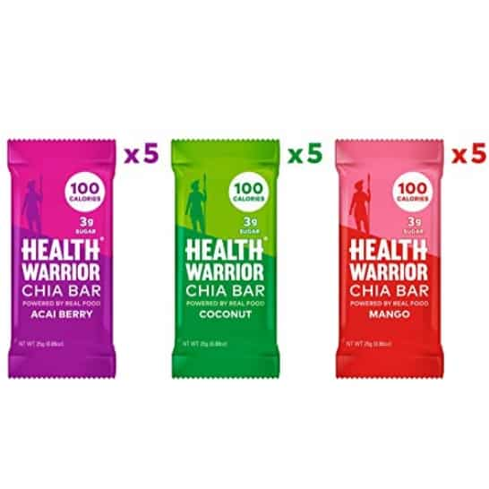 Health Warrior Chia Bars Tropical Variety Pack 15-Ct Only .26