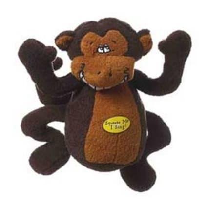 Multipet Deedle Dude 8-Inch Singing Monkey Plush Dog Toy Only .93