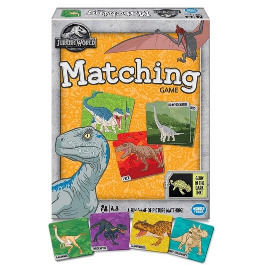 Jurassic World Matching Memory Game Only .44