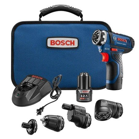 Bosch Cordless Electric 12V 5-In-1 Multi-Head Screwdriver Kit Now 6.99 (Was 9) **Today Only**
