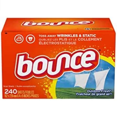 Bounce Fabric Softener Dryer Sheets 240 Count Now .09 (Was .56)
