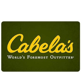 BJs.com: 3-Pack  Cabela's Gift Card .99 (Retail: .99)