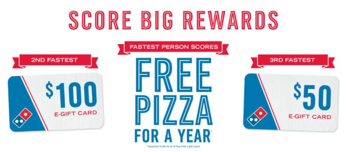 Free + Domino's Gift Card - Sign Up Now!