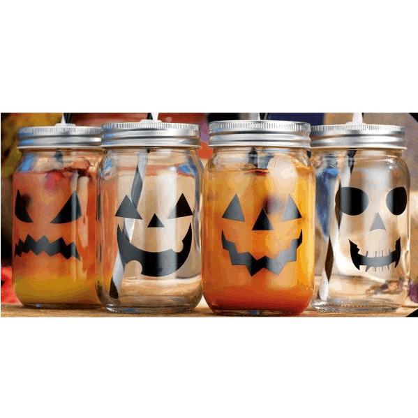 Home Depot: 4 Pack of 15 fl. oz. Halloween Mason Jars Only