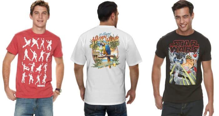 Kohl's: 7 Men's Graphic Tees (Avengers, Star Wars & More) Now  Shipped for Kohl's Cardholders!