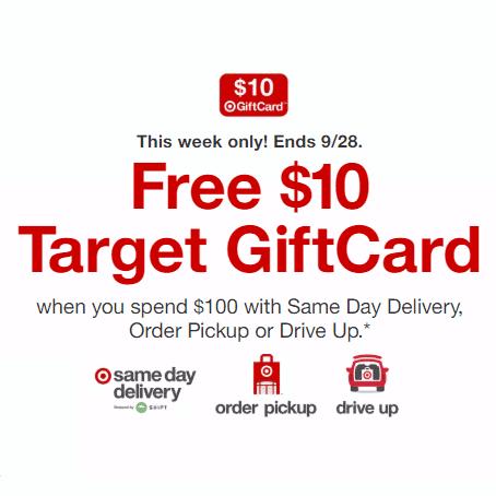 target gift card offer sept