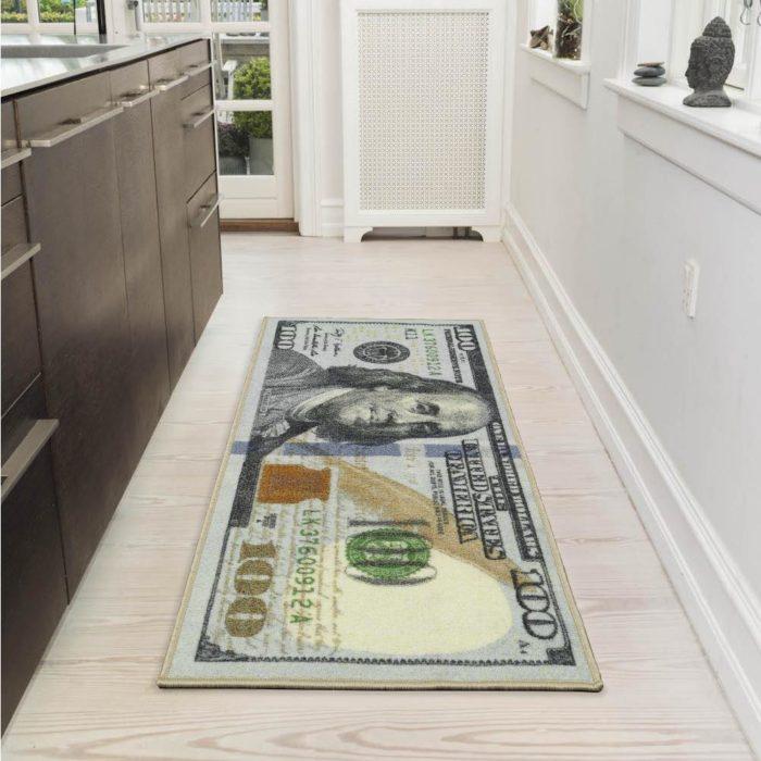 100 bill rug