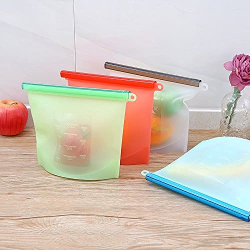 Reusable Silicone Food Storage Bags with Airtight Seal Now .99 (Was )