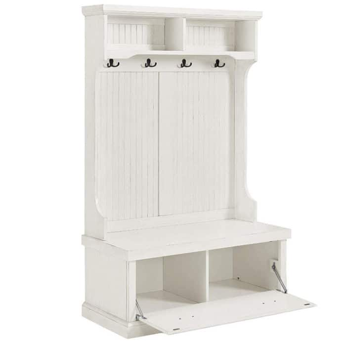 Crosley Furniture Seaside Hall Tree - Distressed White Now 6.09 (Was 9.00)