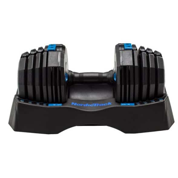 Nordictrack 50lb Adjustable Dumbbell, Single with Storage Tray Now 9 (Was 6.99)