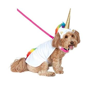 Rubie's Unicorn Cape with Hood and Light-Up Collar Pet Costume Only .59