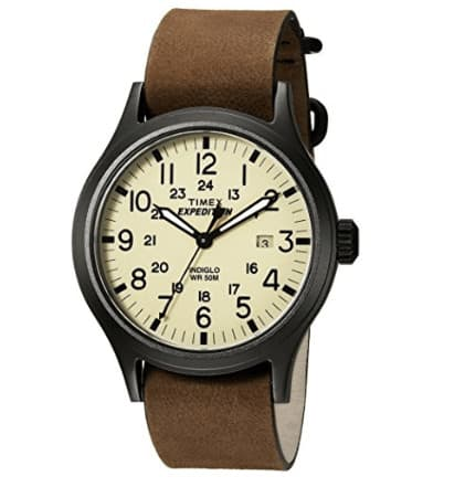 Timex Men's Expedition Scout Tan/Brown Leather Watch Now .51 (Was .96)