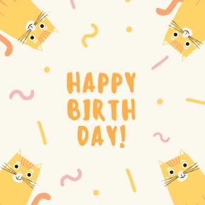 Happy Birthday - cats