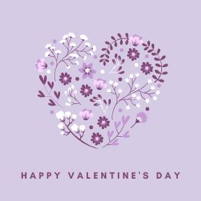 purple happy v day