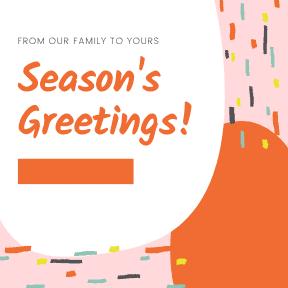 Seasons Greeting Pink