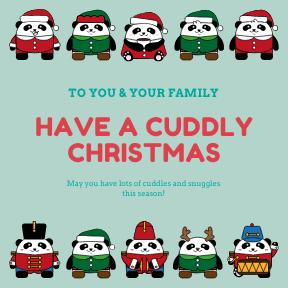 Christmas Card - Cuddly