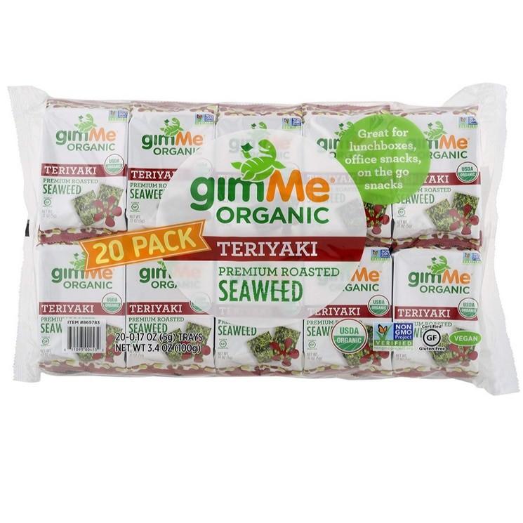gimMe Snacks Organic Roasted Teriyaki Seaweed 20-Pack Now .72 (Was .99)