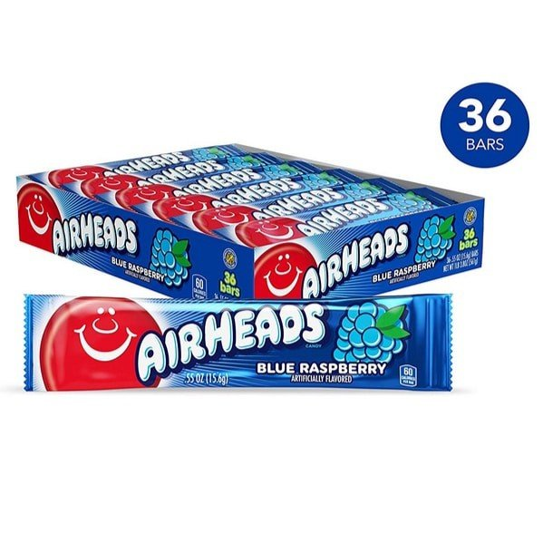 Airheads Candy Bars Blue Raspberry 36-Count Now .91 (Was .52)