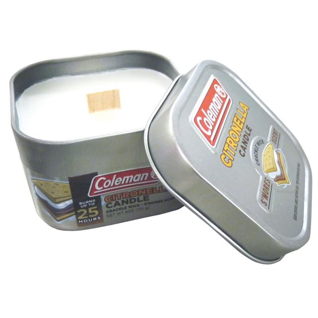 Coleman S'Mores Scented Citronella Candle with Wooden Crackle Wick Now .94 (Was .56)
