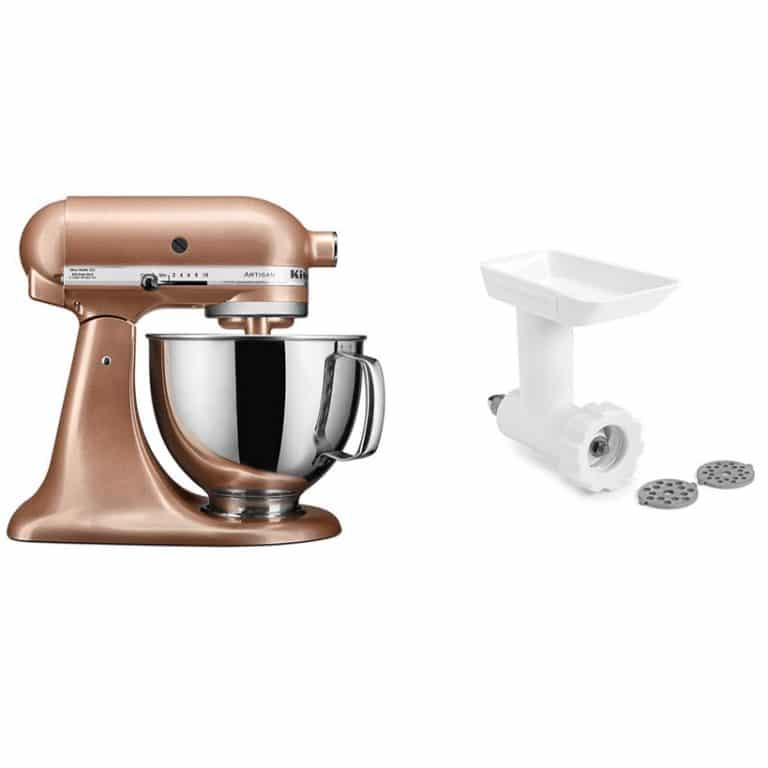 KitchenAid Artisan Tilt-Head Stand Mixer with Food Grinder Attachment Now 9.99 **Today Only**