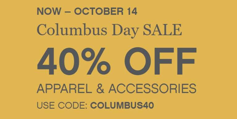 2019 Columbus Day Deals & Discounts