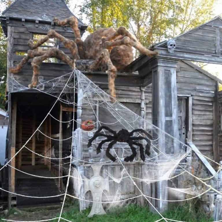 Giant Halloween Outdoor Spider Web with Big Spider Now .50 - Get TWO for .99