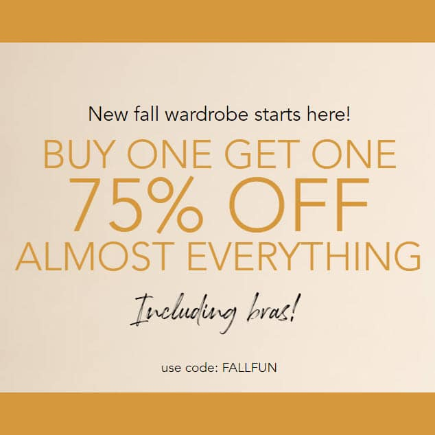 Lane Bryant Columbus Day Sale: Buy One, Get One 75% Off **HOT**