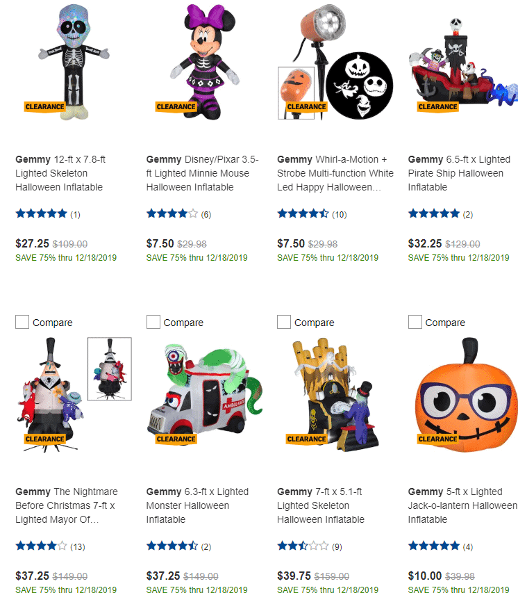 HURRY!!!!  All Halloween Items 75% Off at Lowe's