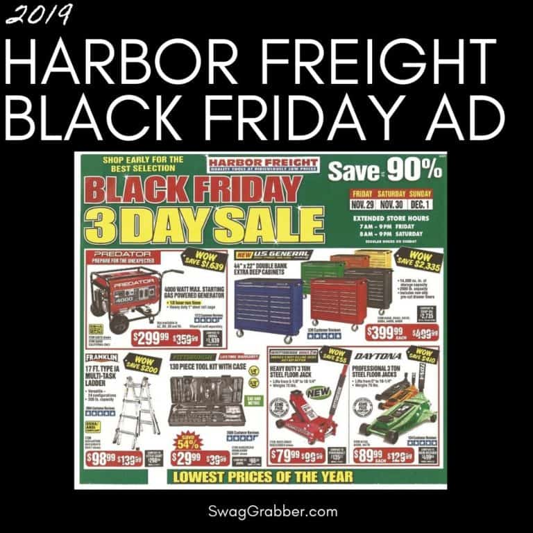 2019 Harbor Freight Black Friday Ad Scan