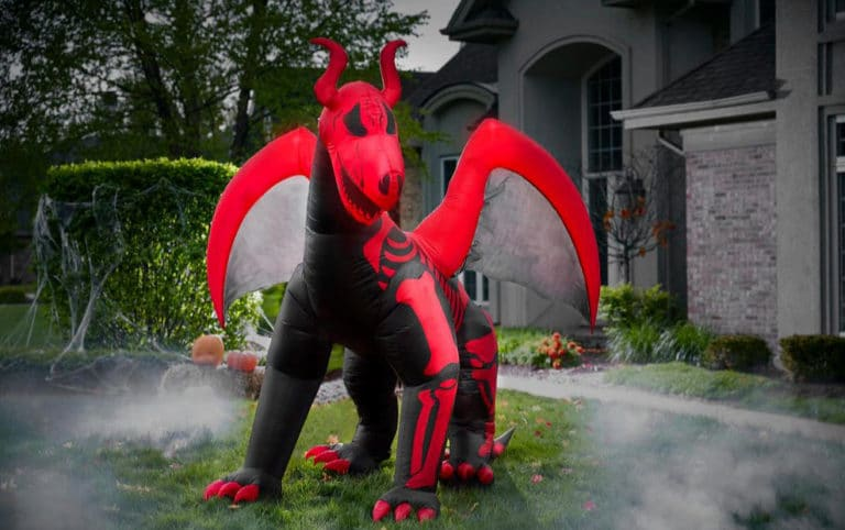10 ft. Inflatable Skeleton Dragon Now .50 (Was 9)