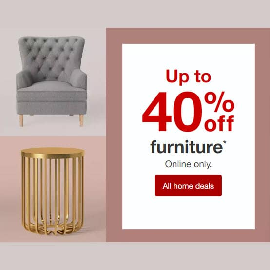 Save 40% off Furniture at Target Today